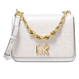 Michael Kors Mott Metallic Deco Chain Shoulder Bag